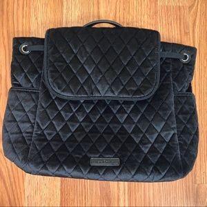 NWT Vera Bradley Black Velvet Fashion Backpack